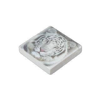 White Tiger Stone Magnet