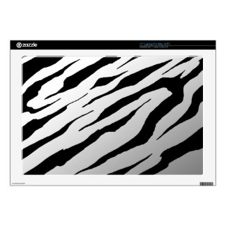 "White Tiger Stripe Laptop Vinyl Skins Decals For 17"" Laptops"