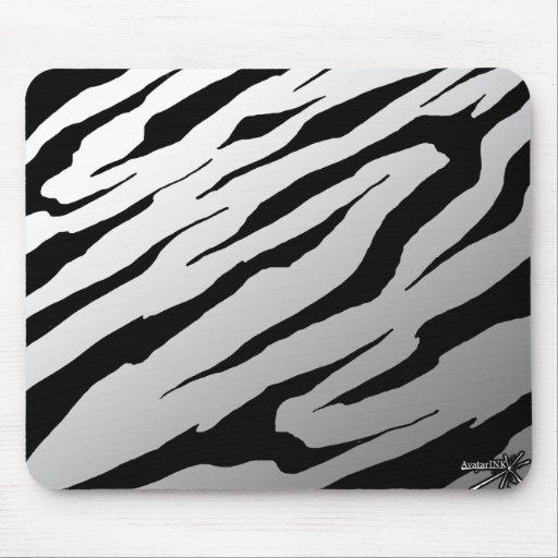 White Tiger Stripe Mousepad