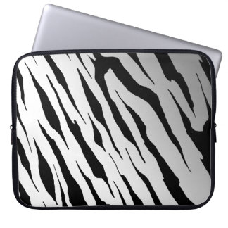 White Tiger Stripe Neoprene Laptop Sleeve