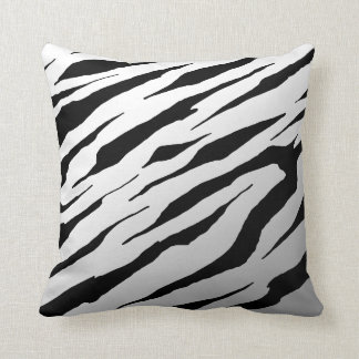 White Tiger Stripe Pillows