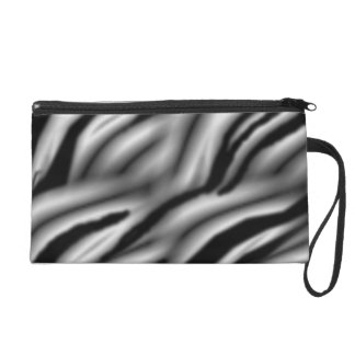 white tiger stripe wristlet purse