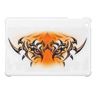 white-tiger-tattoo-color-eyes-face iPad mini cover