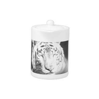 White Tiger Teapot
