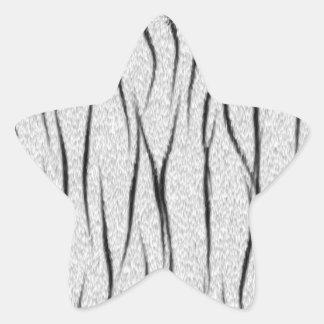 White tiger texture star sticker