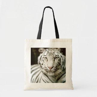 White Tiger Tote Canvas Bag