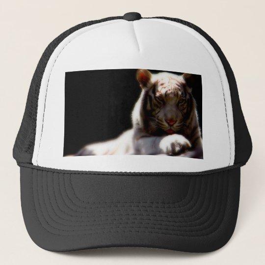 White Tiger Trucker Hat