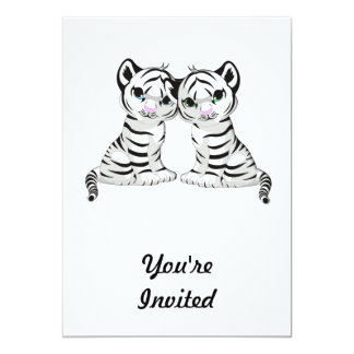 White Tiger Twins Card