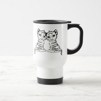 White Tiger Twins Travel Mug