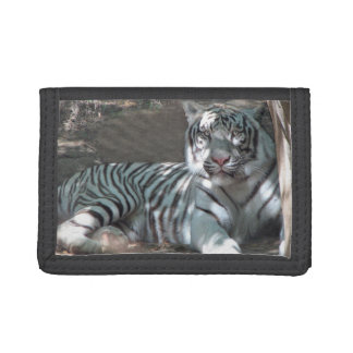 White Tiger Under the Tree Tri-fold Wallets
