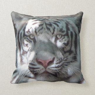 White Tiger Up Close Pillow