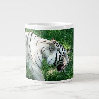 White Tiger walking by Susan L Marsh Giant Coffee Mug