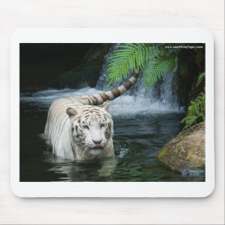 White Tiger Water Mouse Pads