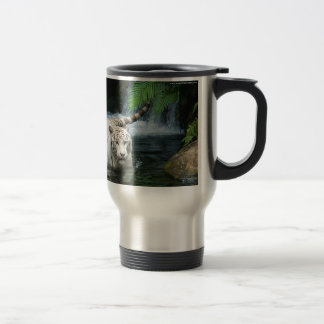 White Tiger Water Travel Mug