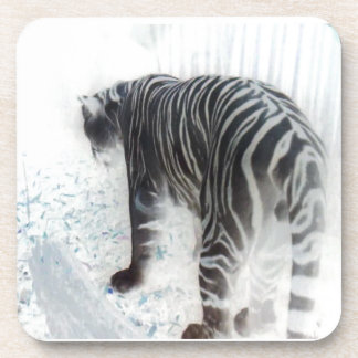 White Tiger wild animal Beverage Coaster