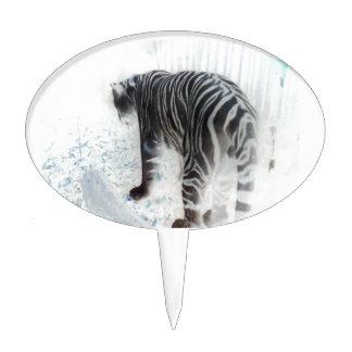 White Tiger wild animal Cake Topper