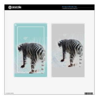 White Tiger wild animal Decals For Kindle Fire
