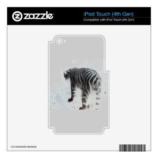 White Tiger wild animal iPod Touch 4G Decals