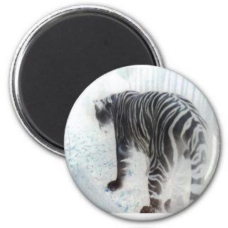 White Tiger Wild Animal Magnet