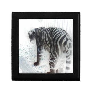 White Tiger wild animal photograph Keepsake Box