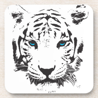White Tiger with Blue Eyes Coaster