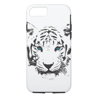 White Tiger with Blue Eyes iPhone 7 Case