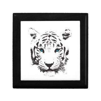 White Tiger with Blue Eyes Keepsake Box