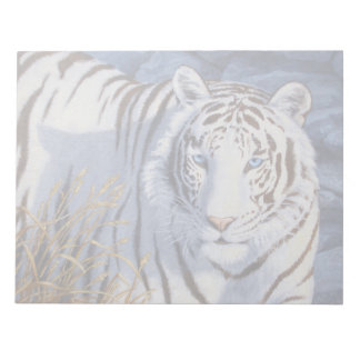 White Tiger with Blue Eyes Memo Notepad