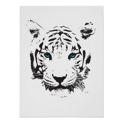 Black Light Posters Tiger