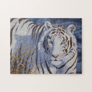 White Tiger with Blue Eyes Jigsaw Puzzle