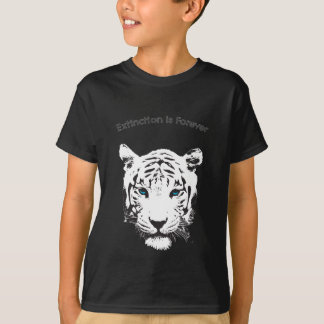 White Tiger with Blue Eyes T-Shirt