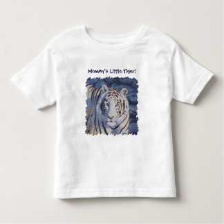 White Tiger with Blue Eyes Toddler T-shirt