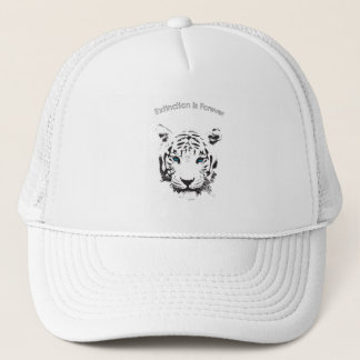 White Tiger with Blue Eyes Trucker Hat
