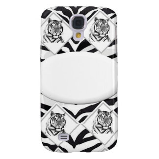 White Tiger with Checkerboard Bacground Galaxy S4 Cover