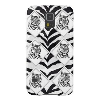 White Tiger with Checkerboard Background Galaxy S5 Case