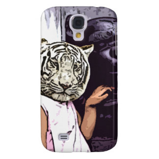 White tiger with statue samsung s4 case
