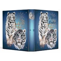White Tigers  binder_1_back.v4 3 Ring Binder