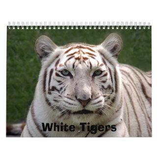 White Tigers Calendar, White Tigers Calendar