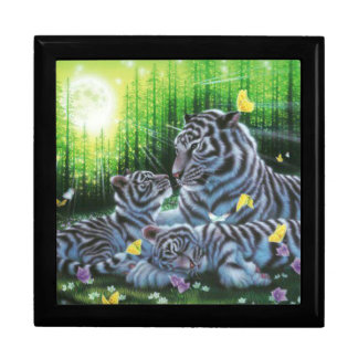 White Tigers Jewelry Box