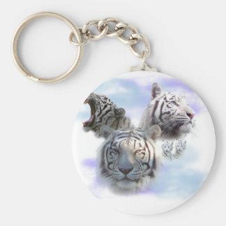 White Tigers Keychain
