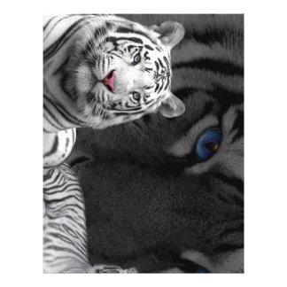 White Tigers Personalized Letterhead