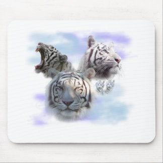 White Tigers Mouse Pad