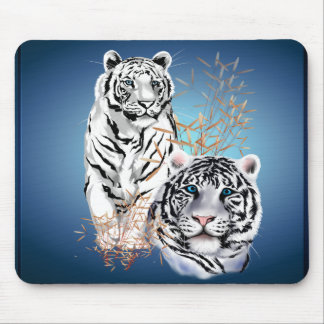 White Tigers _Mousepad Mouse Pad