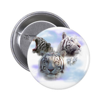 White Tigers Pinback Button