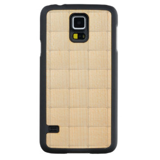 White tile carved maple galaxy s5 slim case