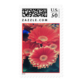White Tipped Flowers Postage