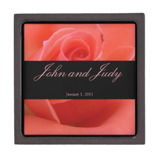 White Tipped Pink Rose Personal Wedding Premium Gift Boxes