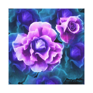 """""""White-Tipped Roses"""" pink version Canvas Print"""