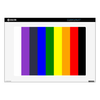 White To Black Rainbow of Color Spaces Decals For Laptops