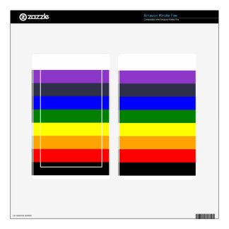 White To Black Rainbow of Color Spaces Kindle Fire Skins